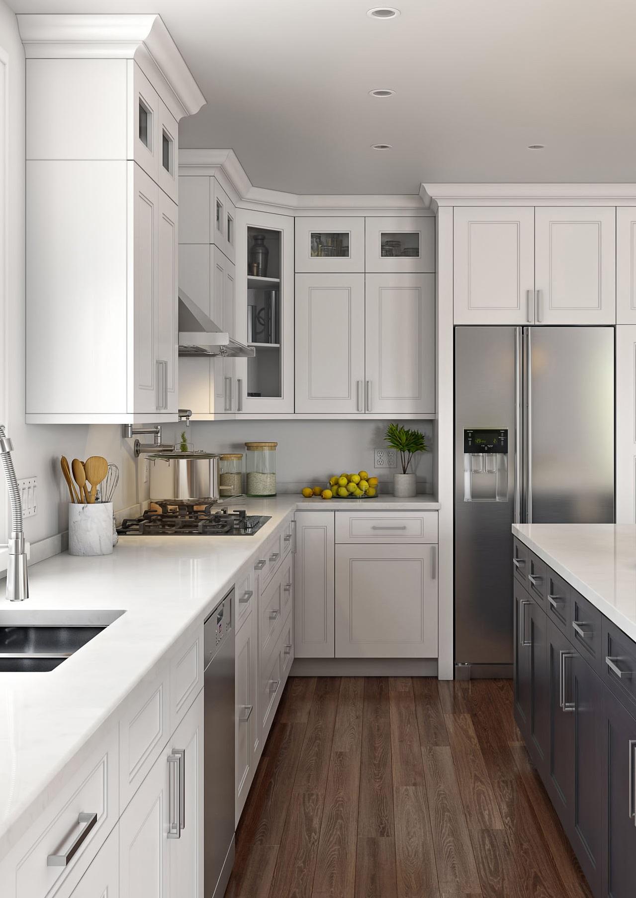 Step Shaker White Kitchen