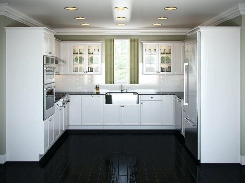 U Shape Shaker White Kitchen