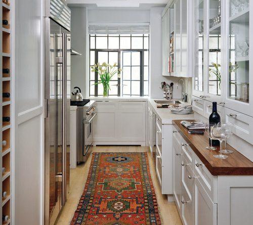 Step Shaker White Galley Kitchen