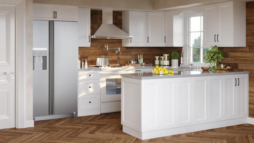 bermuda white cabinets