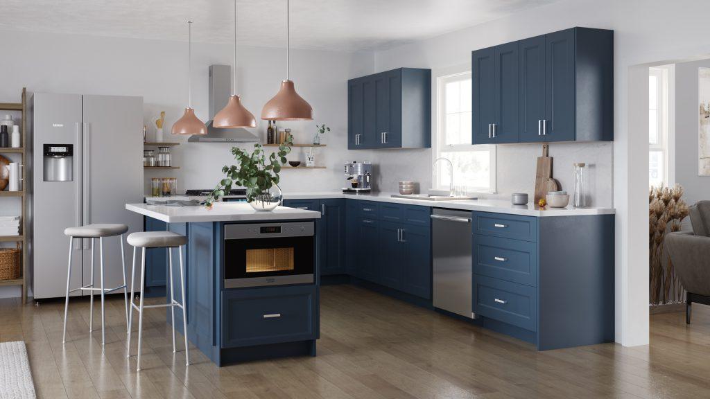 Midnight BLue kitchen cabinets